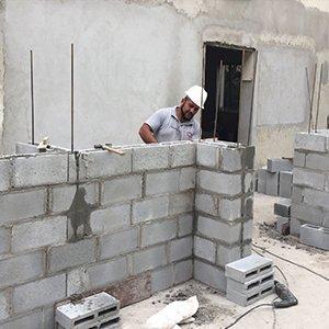 Construção de Parede em Alvenaria