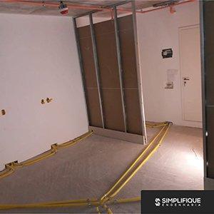 Construção de Paredes em Drywall